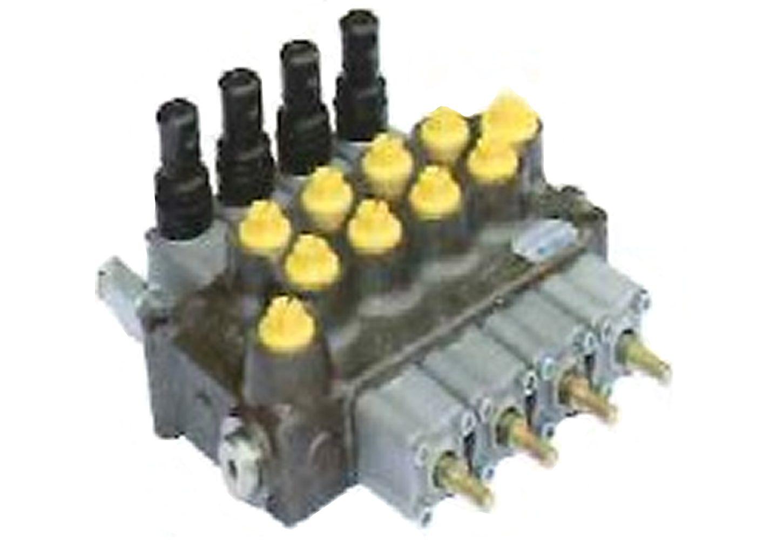 油圧マルチバルブ4連