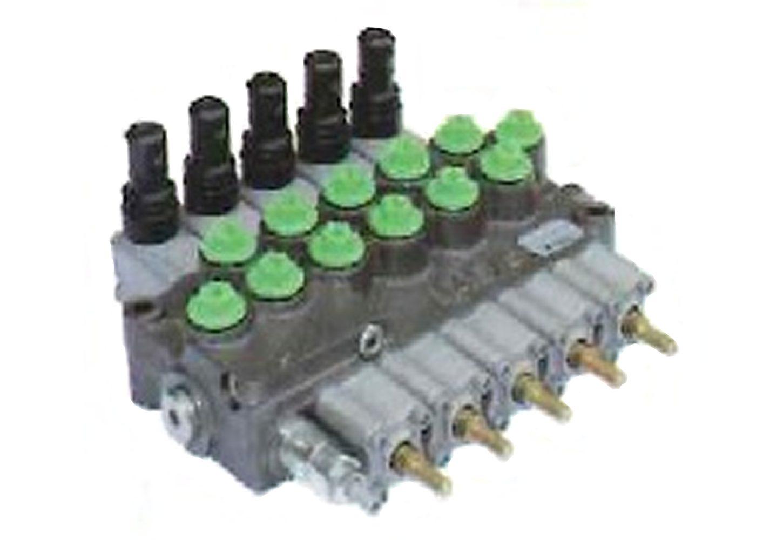 油圧マルチバルブ5連