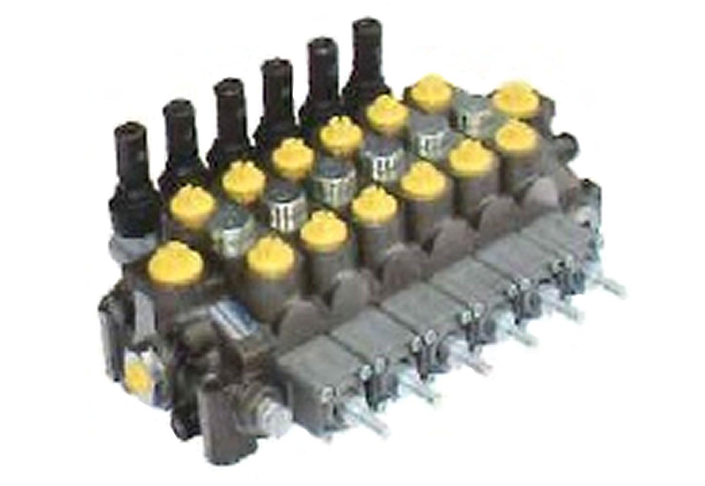 油圧マルチバルブ6連