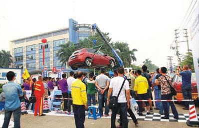 中国レッカー車操作技術大会2014-2